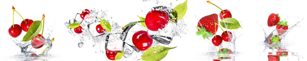 ice fruits watersplash