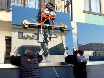 Montaj balustrade sticlă